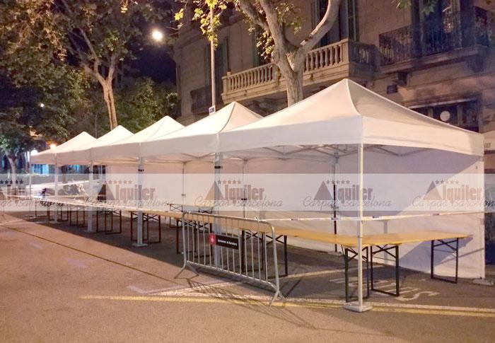 Carpas para ferias en Barcelona