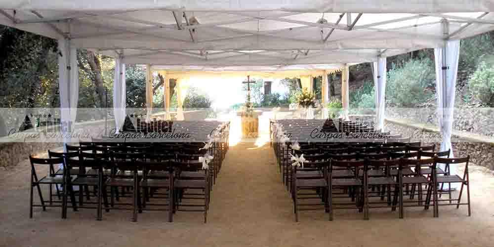 Carpas plegables de alquiler para ceremonias