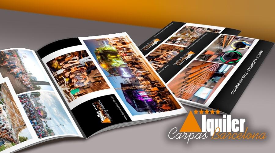 Catálogo mesas alquiler